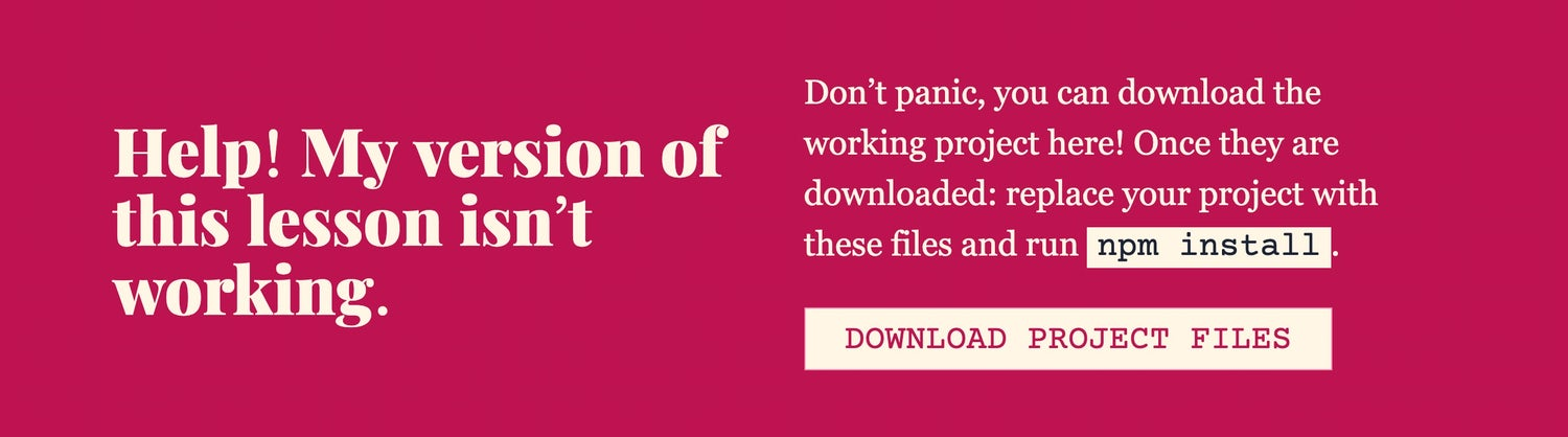 A help section which instructs you to download the project files and install dependecies
