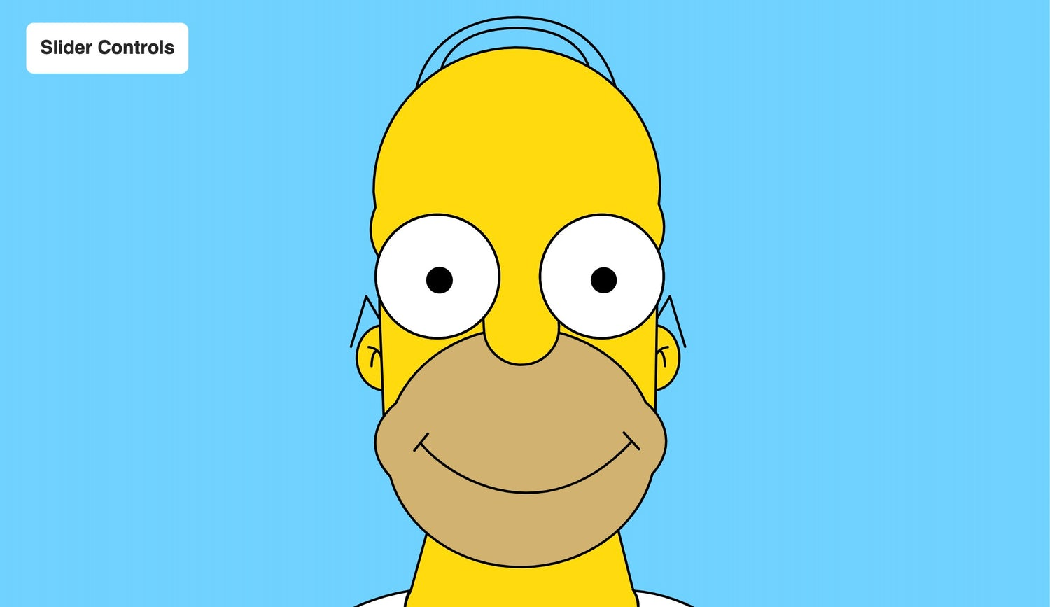 Homer Simpson on a blue background