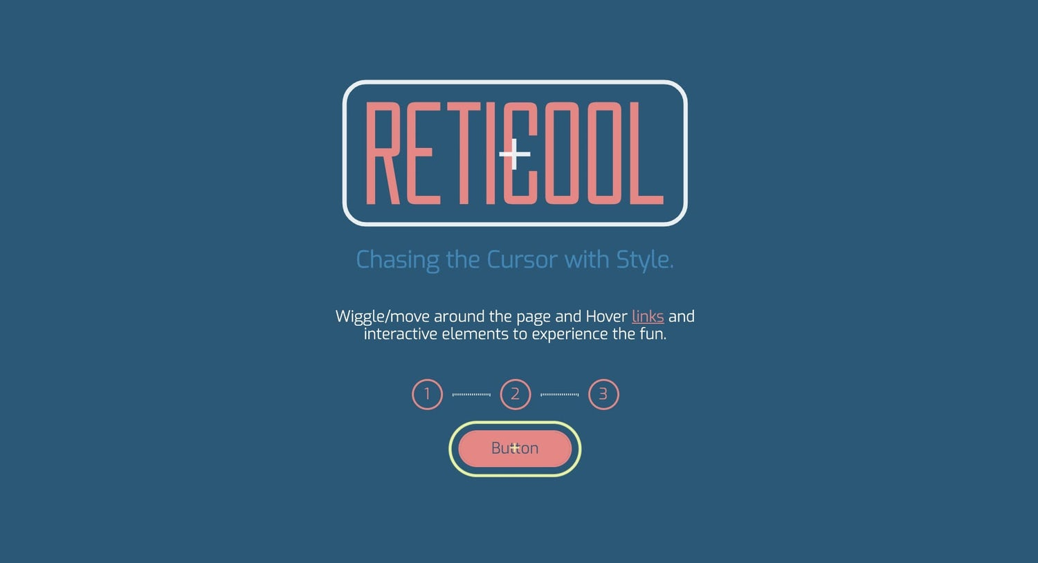 Reticool demo shows various scenarios where the cursor morphs into shape