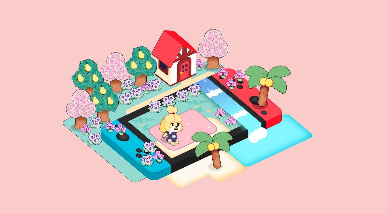 Animal Crossing themed art