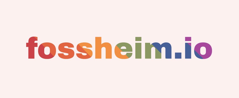 fossheim.io with a rainbow gradient