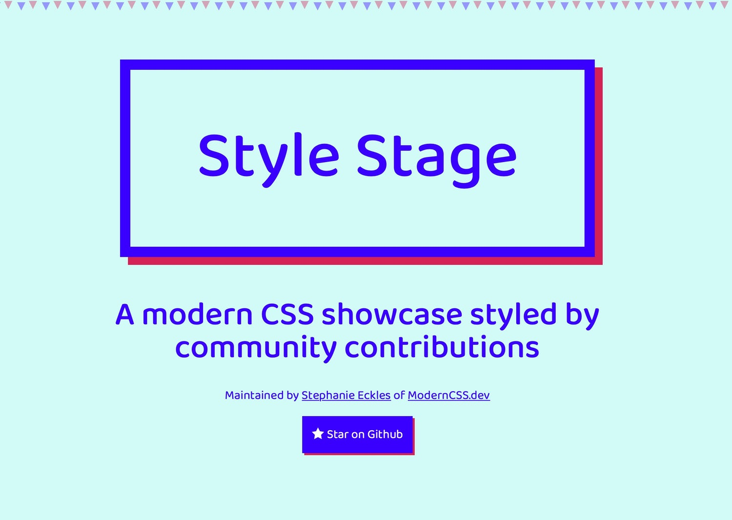 "A very bold homepage which features ""Style Stage"" in massive letters"