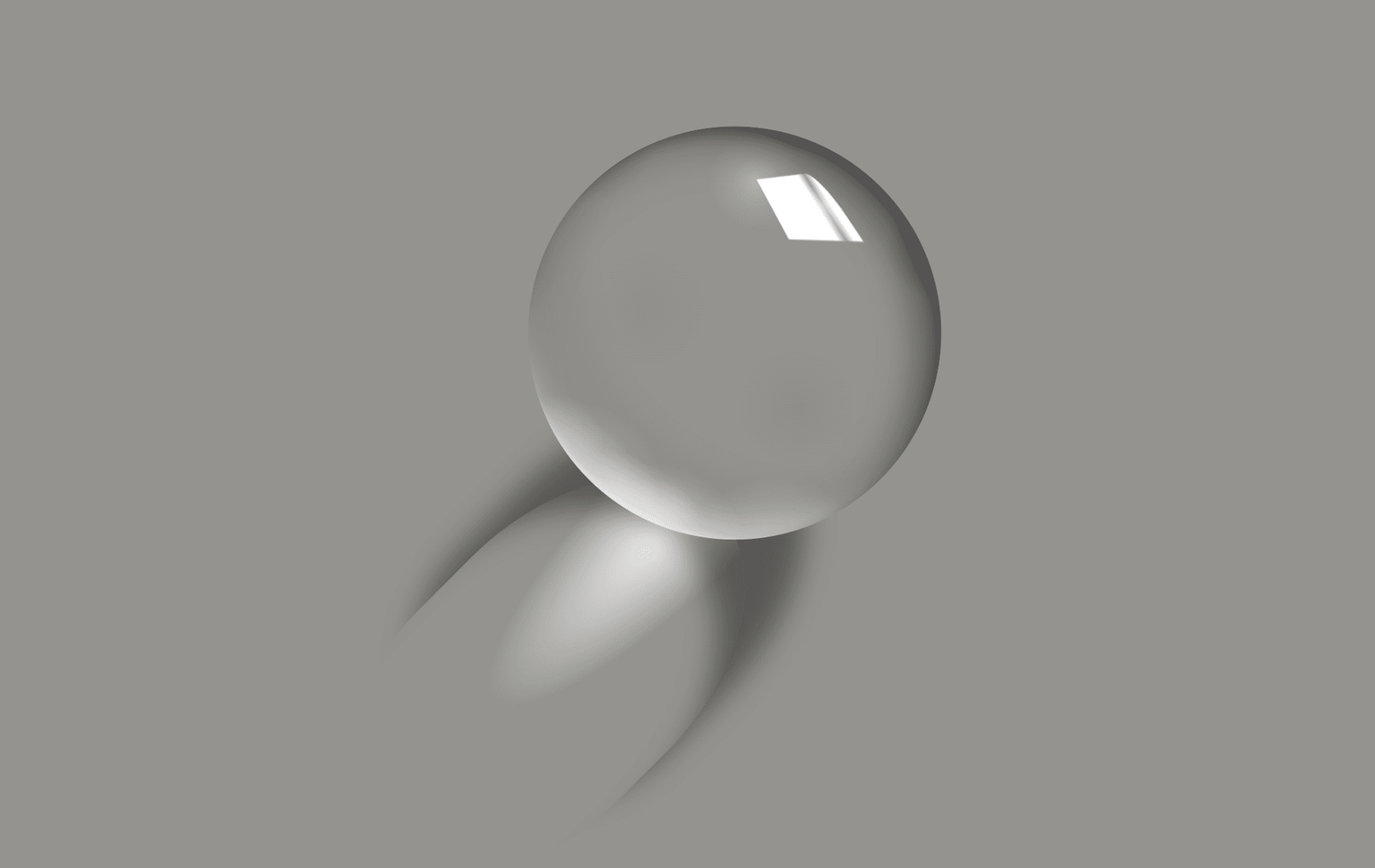 A glass sphere