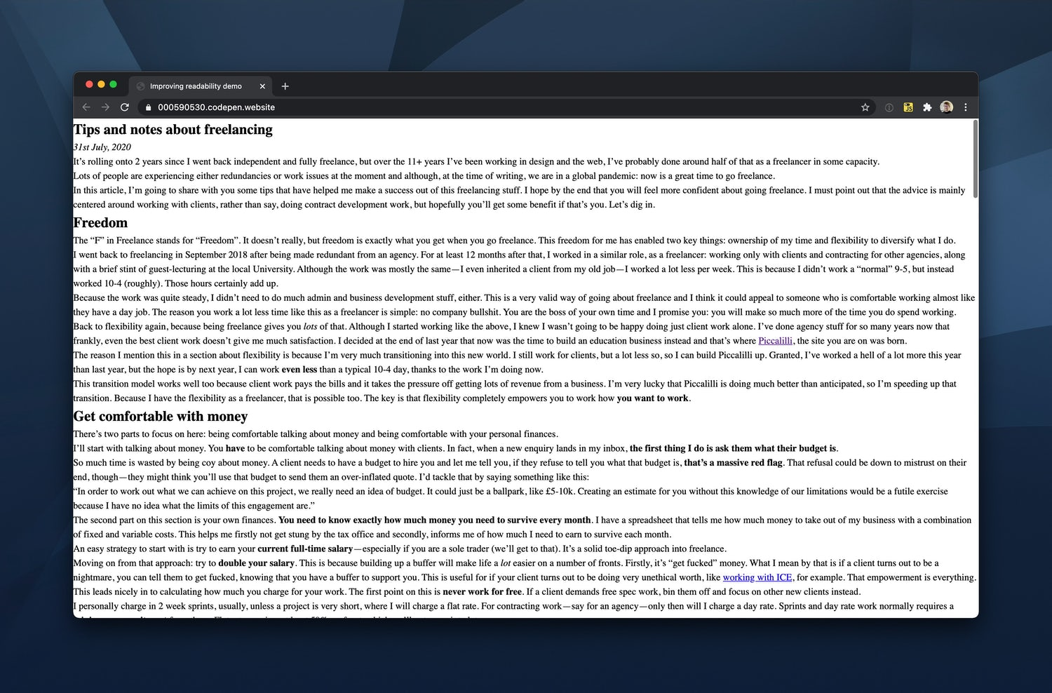 The HTML-only version of our article